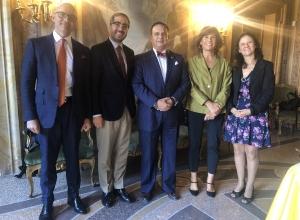 The Certificate's Directors with Pedro J. Martinez Fraga and Anna Veneziano